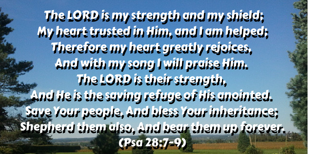 The LORD is my strength and my